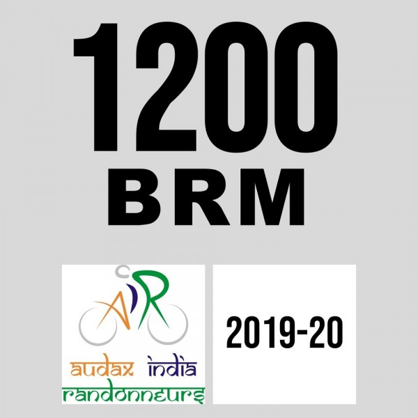 Hyderabad Randonneurs 1200 BRM on 09-Jan-2020