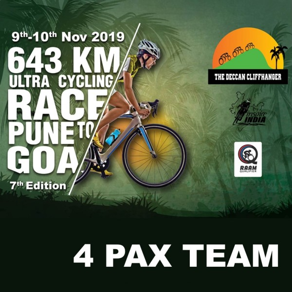 The Deccan Cliffhanger 2019 643 kms – 4 Pax Team