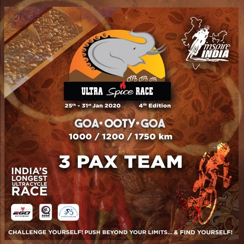 The Ultra Spice Race 2020 3 Pax Team