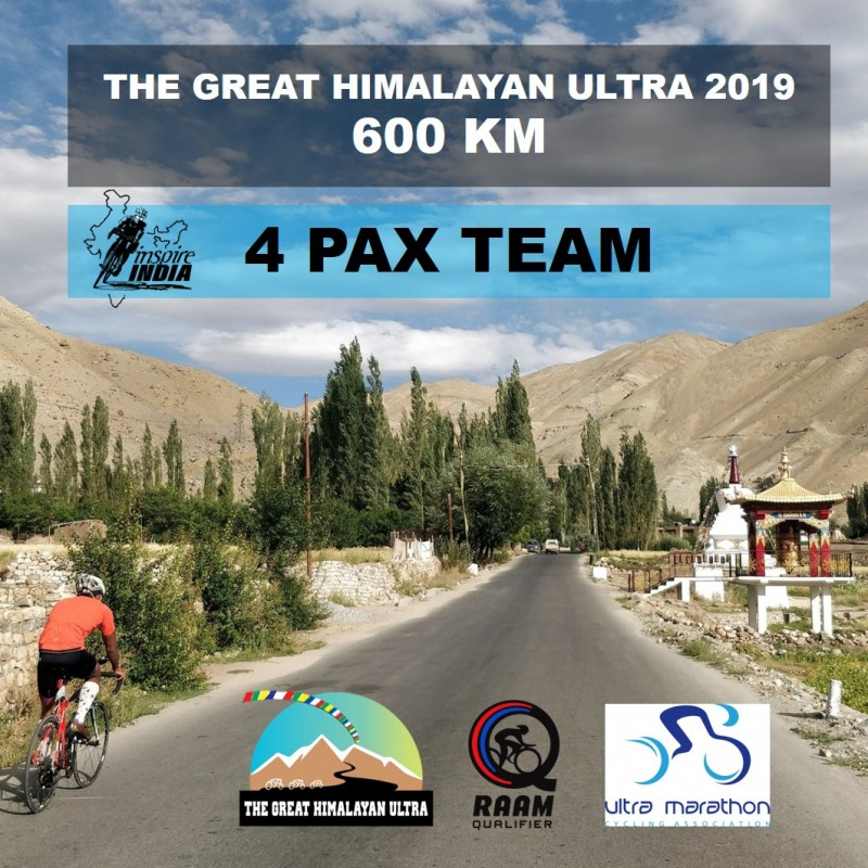 The Great Himalayan Ultra 600 km 2019 - 4 Pax Team
